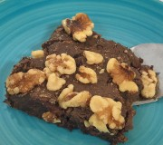 Black Bean Walnut Brownies
