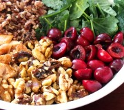 Walnut and Cherry Wild Rice Salad