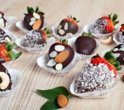 Chocolate and Nut Covered Strawberries