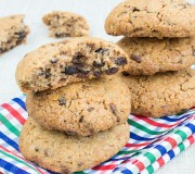 Gluten Free Walnut Chocolate Chip Cookies