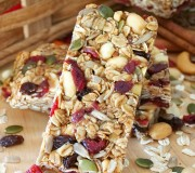 Cranberry Delight Chewy Granola Bars