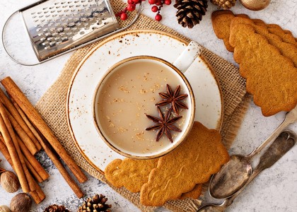 Holiday Vegan Chai Latte