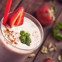 Pistachio Strawberry Milkshake