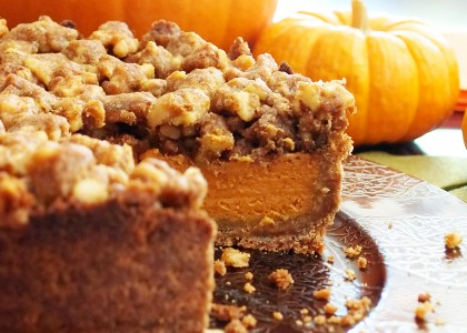 Candied Walnut Pumpkin Pie