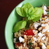Quinoa Salad With Toasted Pine Nuts