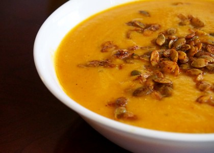 Butternut Squash Soup with Spiced Pumpkin Seeds